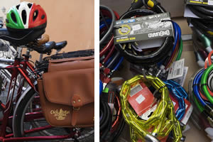Some bike accessories of our shop