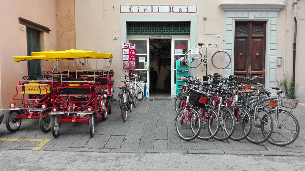 Front of bike shop